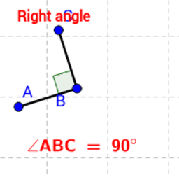 Animated view of right angles.