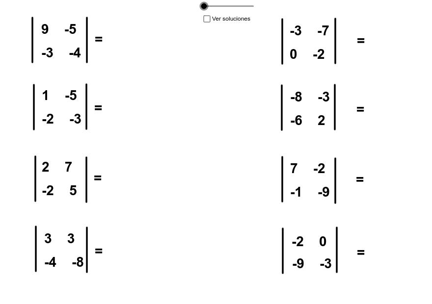 Determinante de una matriz 2×2