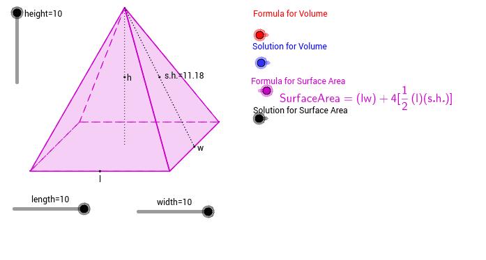 Ογκος τετραγωνικής πυραμίδας