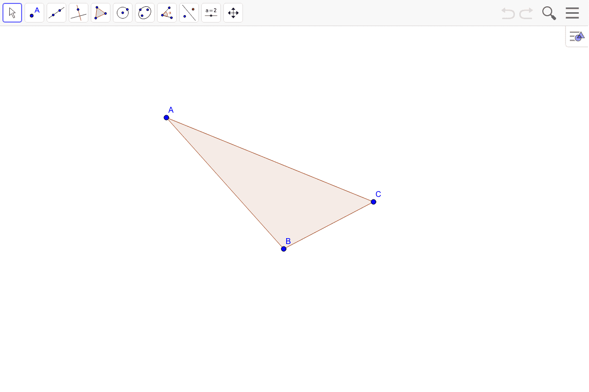 5) Find the orthocenter of the triangle.