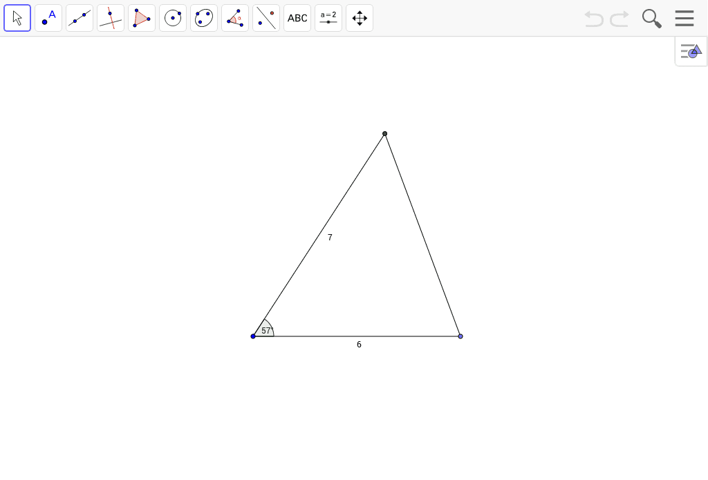 Measure the remaining angles and sides.