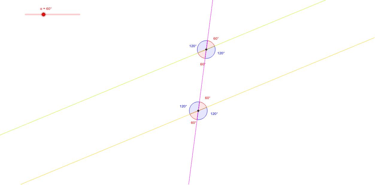 ángulos entre paralelas y una transversal Presiona Intro para comenzar la actividad