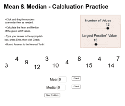 Mean and Median Practice
