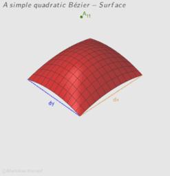 A simple quadratic Bézier-Surface
