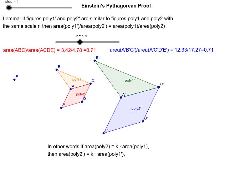 Einstein's Proof of the Pythagorean Theorem – GeoGebra