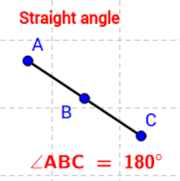 Animated view of straight angles.