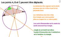 Les médiatrices d'un triangle