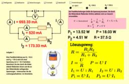 Parallelschaltung von Widerständen in Stromkreisen