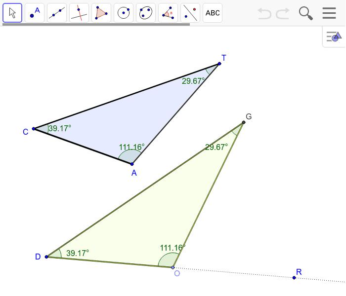 Triangle Congruence Criteria Angle Angle Angle Geogebra