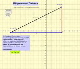 Slope, Midpoint and Distance