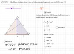 Jednakokračan trokut-osnovica i visina