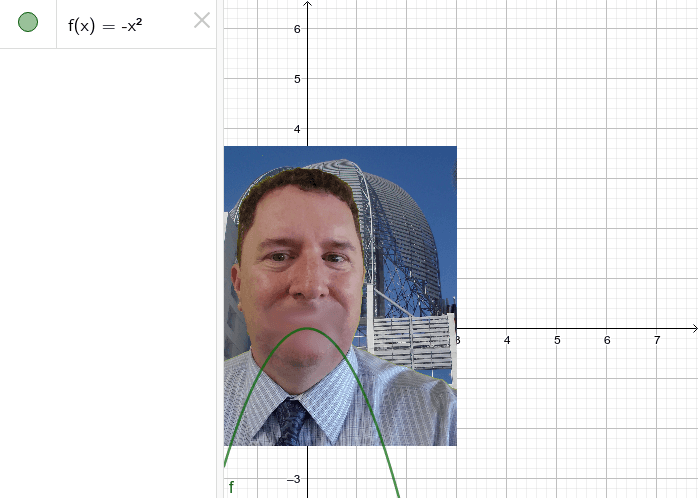 What's wrong Mr. C's? Reflect the parabola so he's smiling.