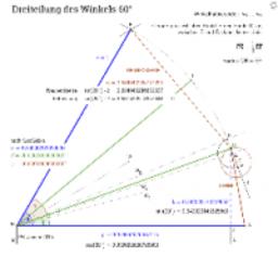 Dreiteilung des Winkels 60°