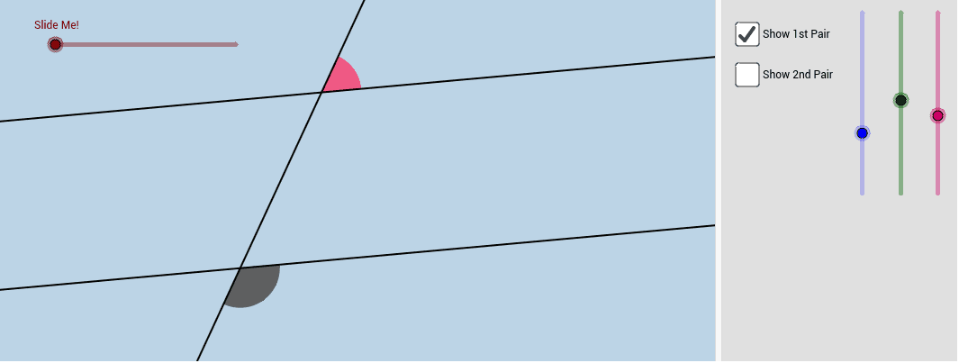 When This Happens, There Are 2 Pairs Of SAME SIDE EXTERIOR ANGLES That Are  Formed. Interact With The Applet Below For A Few Minutes, Then Answer The  ...