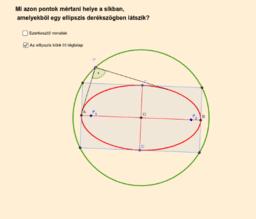 Az ellipszis látószöge