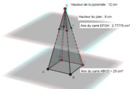 Section de pyramide (lunettes anaglyphes)