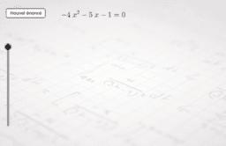 Equation du second degré avec racines complexes