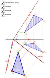 Copia de Diédrico 2D/3D. Transformaciones. Abatimiento de triangulo.