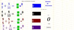 Cociente de fracciones