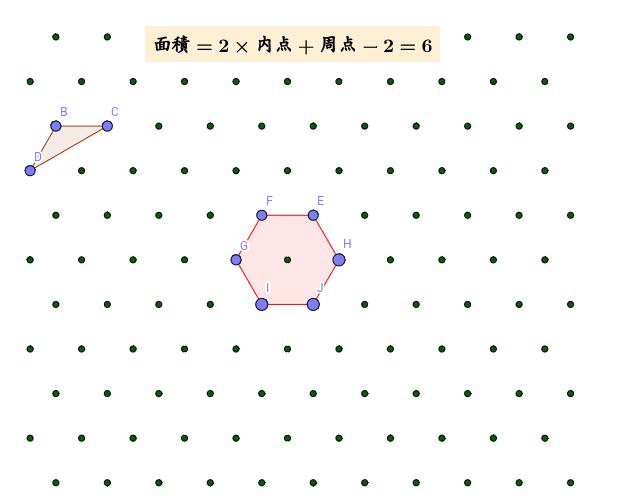 この格子点の作り方が一番難しかった。一度に作らなければ自由に移動できない。作り方から言えば、この格子点は三次元。 ワークシートを始めるにはEnter キーを押してください。