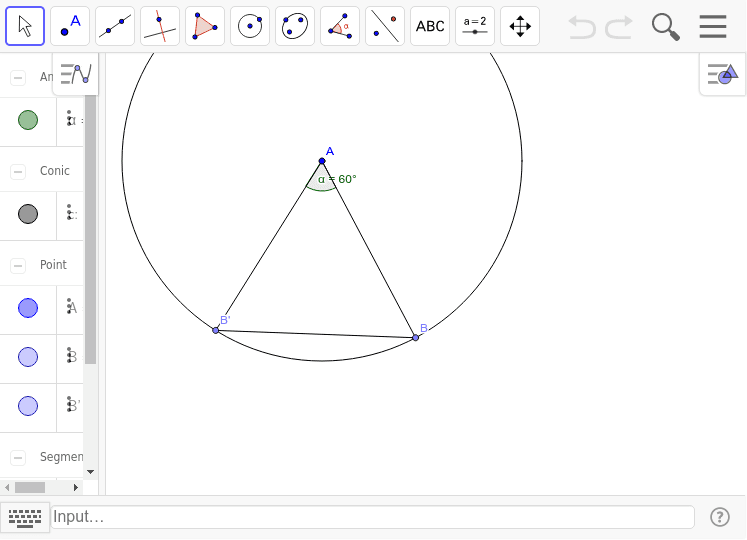 Construcción dados dos lados y su ángulo comprendido