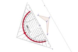 Achsensymmetrie mit dem Geodreieck