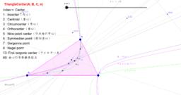 三角形の中心と極と極線