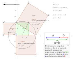 Número áureo segmento dividido en extrema y media razón