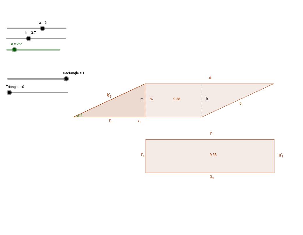 Demostració àrea paral·lelogram