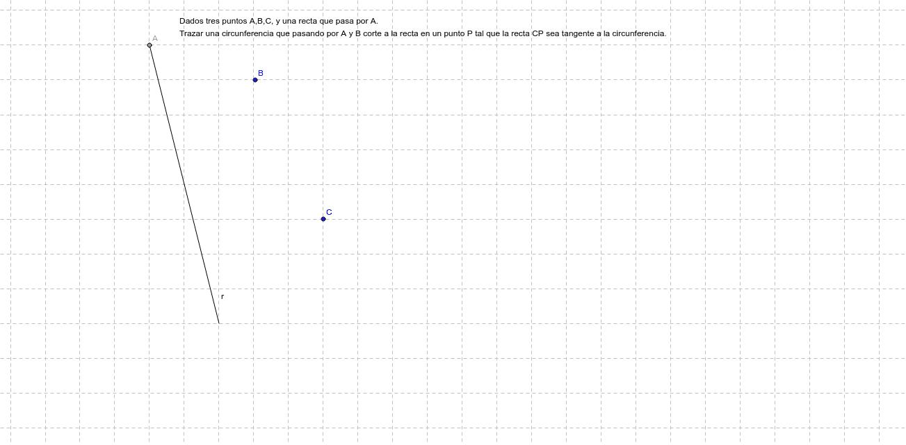 Ejerc1. Lugares geométricos y circunferencia Presiona Intro para comenzar la actividad