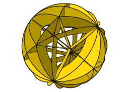 Spherical model - truncated tetrahedron