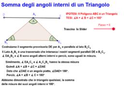 Somma degli angoli interni di un Triangolo: Dimostrazione