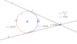 Tangent's Angles with Circle