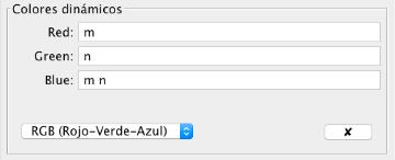 Ejemplo de configuración de colores.