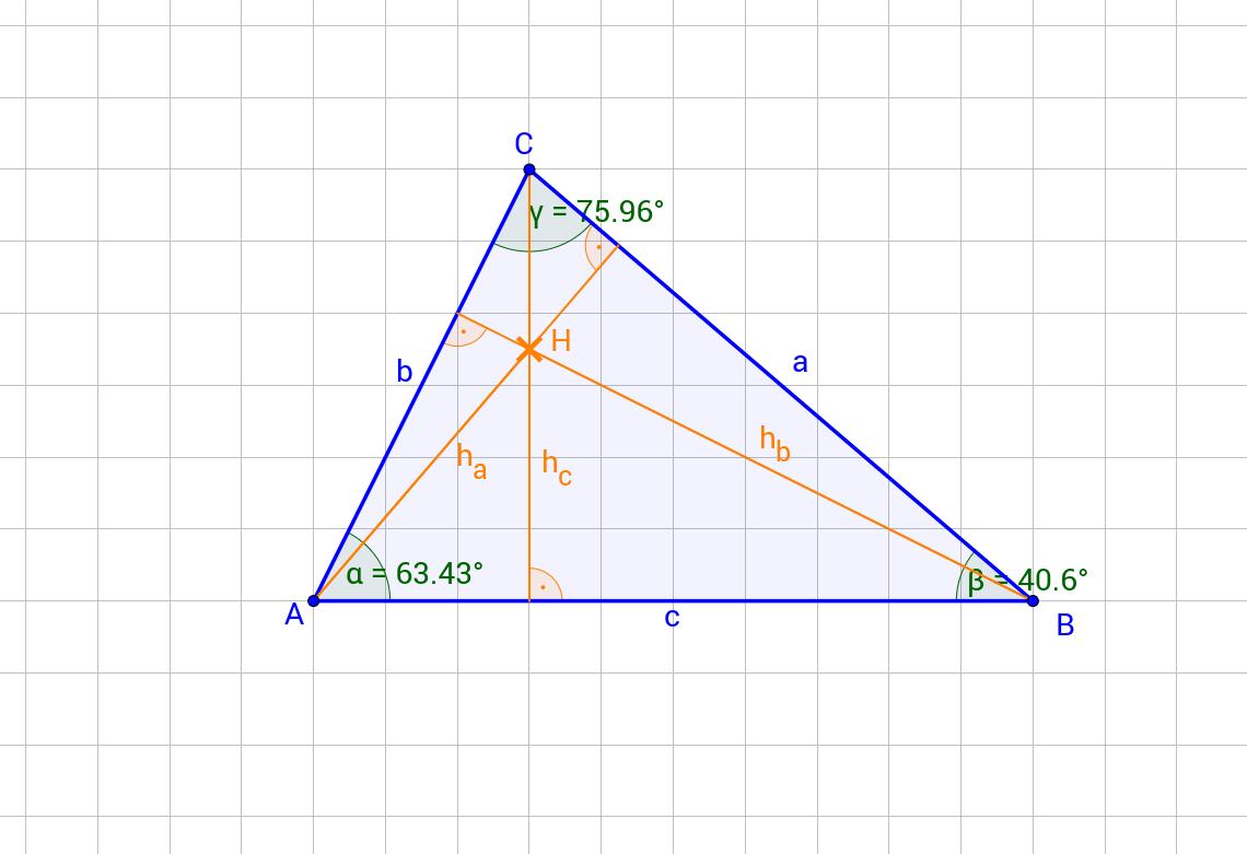 Höhenschnittpunkt im Dreieck