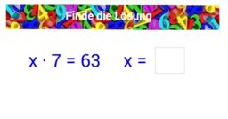 1 x 1 Training mit Gleichungen