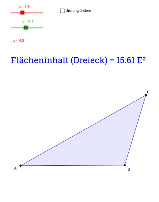 Dreieck mit konstantem Umfang
