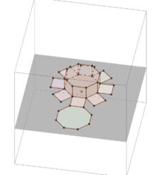 Prisma en uitslag in 3D. Dynamisch