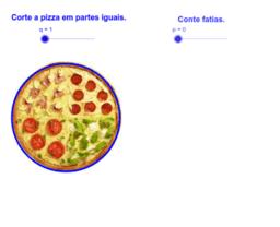 Pizzas e frações