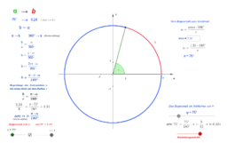 Bogenlänge - Bogenmaß
