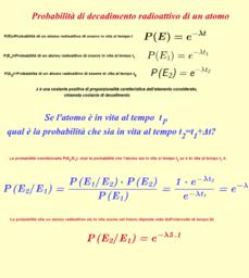 Probabilità di decadimento radioattivo di un atomo