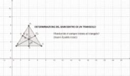 Baricentro di un triangolo
