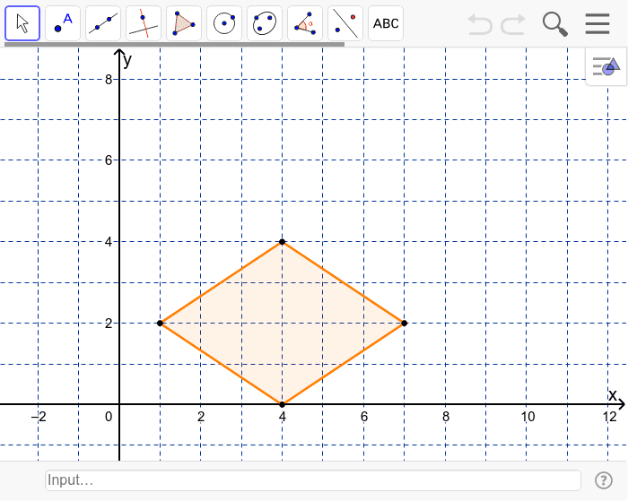 How many lines of symmetry does the rhombus have? Press Enter to start activity