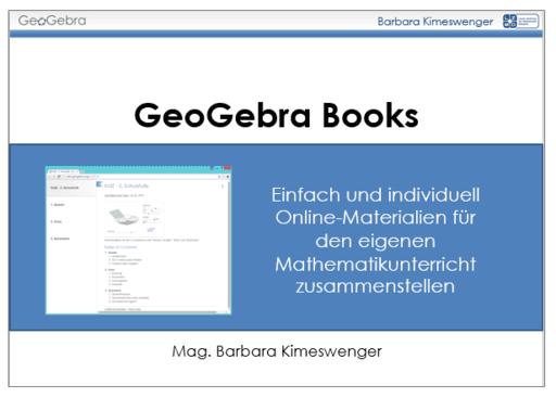 geogebra books einfach und individuell online materialien geogebra. Black Bedroom Furniture Sets. Home Design Ideas