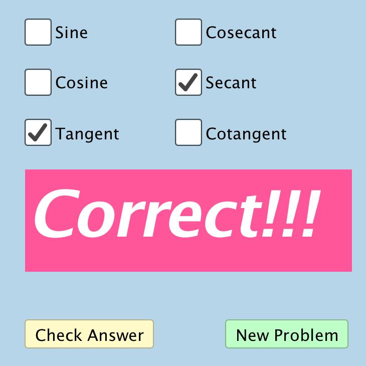Quiz: Quadrant Logic (Trigonometry)