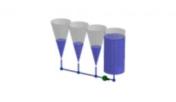 Relació dels volums del con i del cilindre