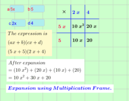 Common Algebra Manipulations.
