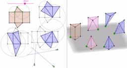 Dissecció d'un prisma en tres tetraedres d'igual volum (3D)