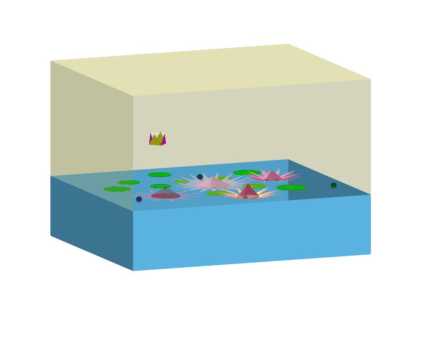 Animacja lilii wodnych