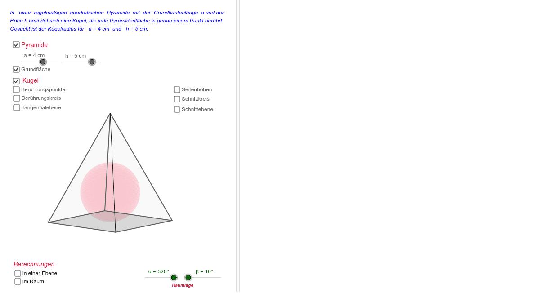 quadratische pyramide h berechnen